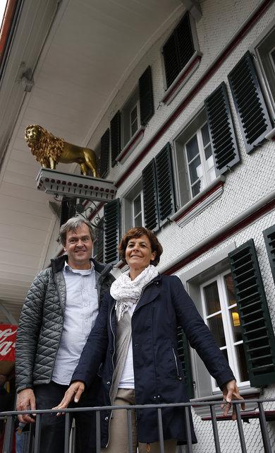 Gasthof Löwen nach Sanierungsarbeiten und Umbau . Gasthof Löwen in Grosshöchstetten. Besitzer Caroline und Michael Elsässer. © Urs Baumann